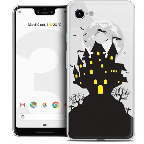 "Coque Crystal Gel Google Pixel 3 XL (6.3"") Extra Fine Halloween - Castle Scream"