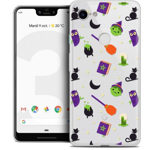 "Coque Crystal Gel Google Pixel 3 XL (6.3"") Extra Fine Halloween - Witch Potter"