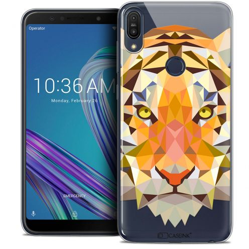 "Coque Crystal Gel Asus Zenfone Max Pro (M1) ZB601KL (6"") Extra Fine Polygon Animals - Tigre"