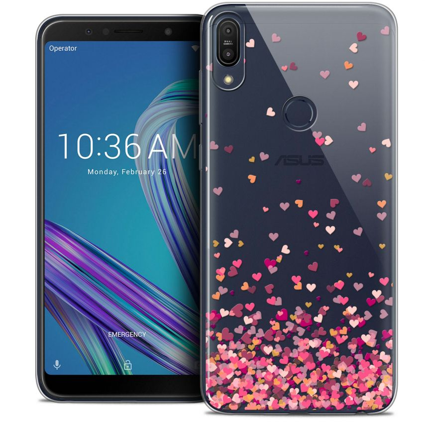 """Coque Crystal Gel Asus Zenfone Max Pro (M1) ZB601KL (6"""") Extra Fine Sweetie - Heart Flakes"""