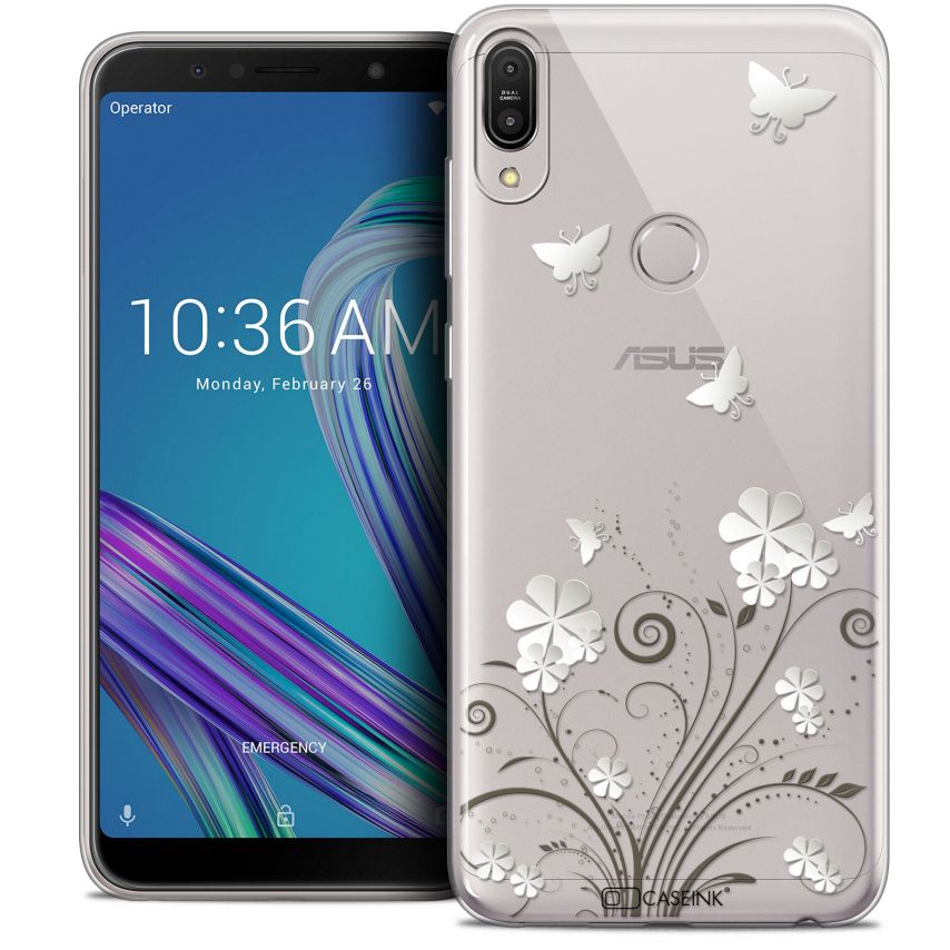 """Coque Crystal Gel Asus Zenfone Max Pro (M1) ZB601KL (6"""") Extra Fine Summer - Papillons"""