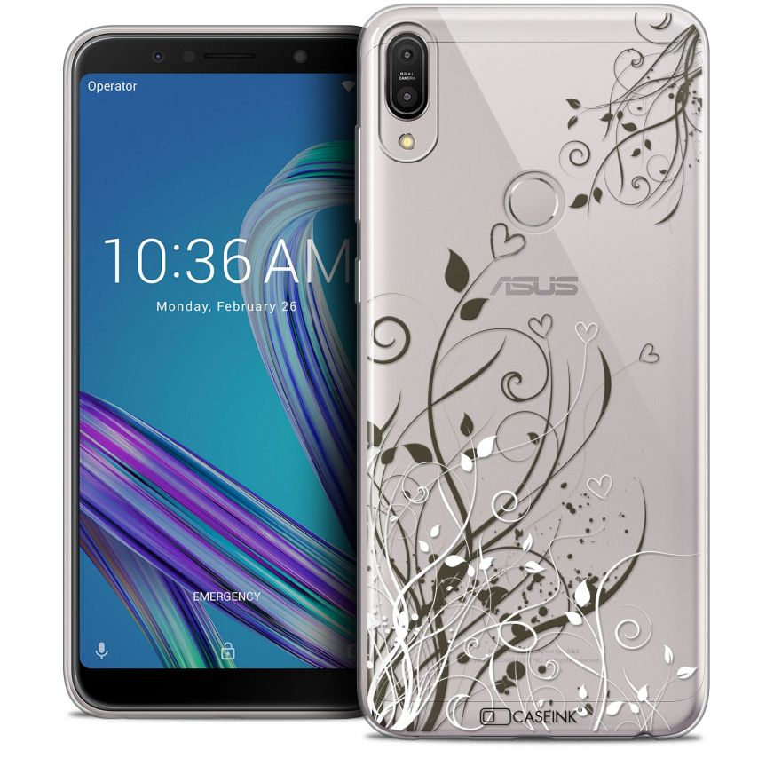 "Coque Crystal Gel Asus Zenfone Max Pro (M1) ZB601KL (6"") Extra Fine Love - Hearts Flowers"