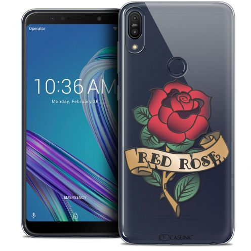 "Coque Crystal Gel Asus Zenfone Max Pro (M1) ZB601KL (6"") Extra Fine Tatoo Lover - Red Rose"
