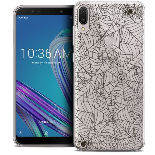 "Coque Crystal Gel Asus Zenfone Max Pro (M1) ZB601KL (6"") Extra Fine Halloween - Spooky Spider"