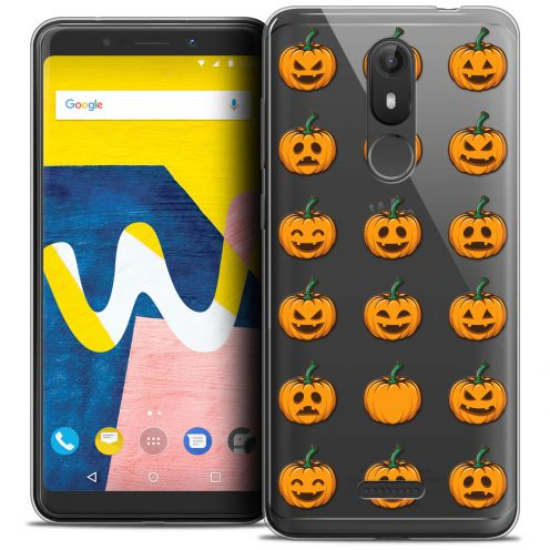 "Coque Crystal Gel Wiko View LITE (5.45"") Extra Fine Halloween - Smiley Citrouille"