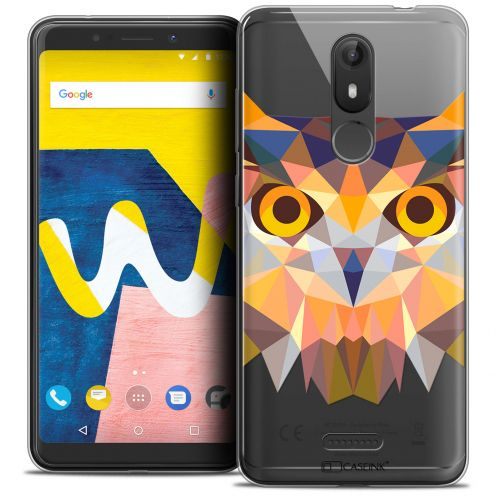 "Coque Crystal Gel Wiko View LITE (5.45"") Extra Fine Polygon Animals - Hibou"