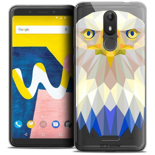 "Coque Crystal Gel Wiko View LITE (5.45"") Extra Fine Polygon Animals - Aigle"