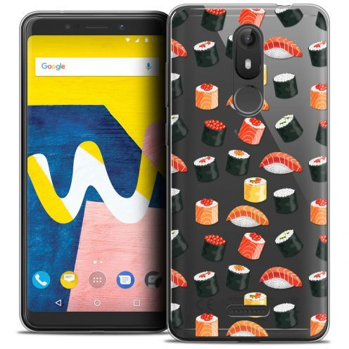 "Coque Crystal Gel Wiko View LITE (5.45"") Extra Fine Foodie - Sushi"