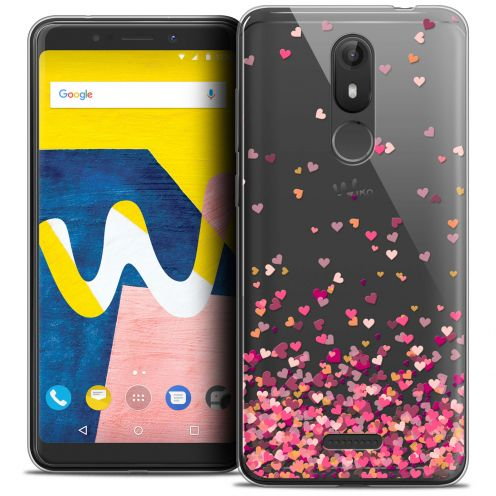 "Coque Crystal Gel Wiko View LITE (5.45"") Extra Fine Sweetie - Heart Flakes"