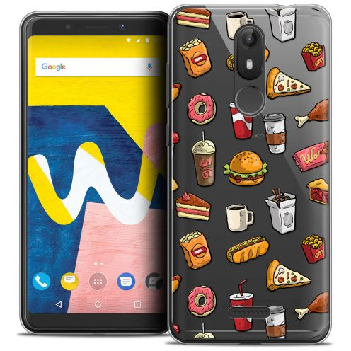 """Coque Crystal Gel Wiko View LITE (5.45"""") Extra Fine Foodie - Fast Food"""
