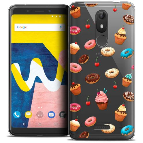"""Coque Crystal Gel Wiko View LITE (5.45"""") Extra Fine Foodie - Donuts"""