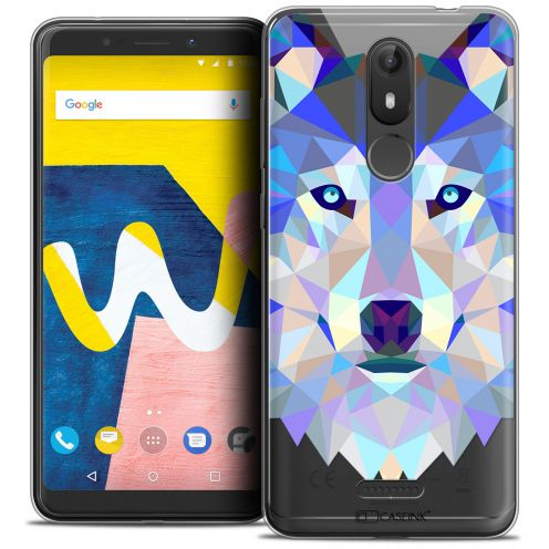 "Coque Crystal Gel Wiko View LITE (5.45"") Extra Fine Polygon Animals - Loup"