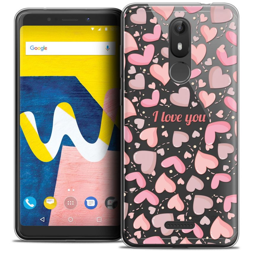 """Coque Crystal Gel Wiko View LITE (5.45"""") Extra Fine Love - I Love You"""