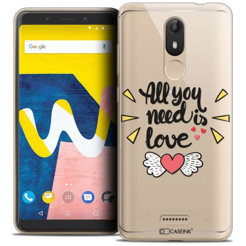 "Coque Crystal Gel Wiko View LITE (5.45"") Extra Fine Love - All U Need Is"