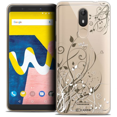 """Coque Crystal Gel Wiko View LITE (5.45"""") Extra Fine Love - Hearts Flowers"""