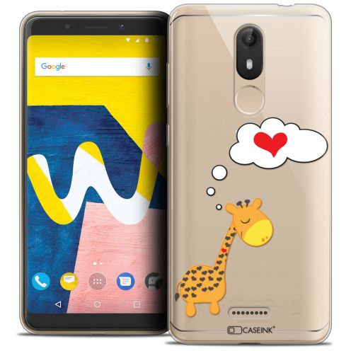 "Coque Crystal Gel Wiko View LITE (5.45"") Extra Fine Love - Girafe Amoureuse"