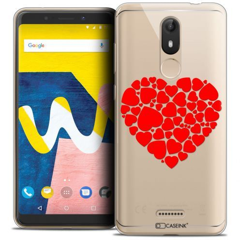 "Coque Crystal Gel Wiko View LITE (5.45"") Extra Fine Love - Coeur des Coeurs"