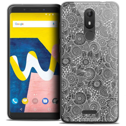 """Coque Crystal Gel Wiko View LITE (5.45"""") Extra Fine Dentelle Florale - Blanc"""