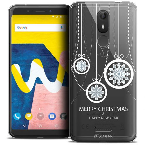 "Coque Crystal Gel Wiko View LITE (5.45"") Extra Fine Noël 2017 - Christmas Balls"