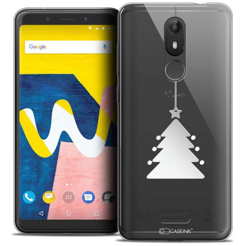 "Coque Crystal Gel Wiko View LITE (5.45"") Extra Fine Noël 2017 - Petit Arbre"