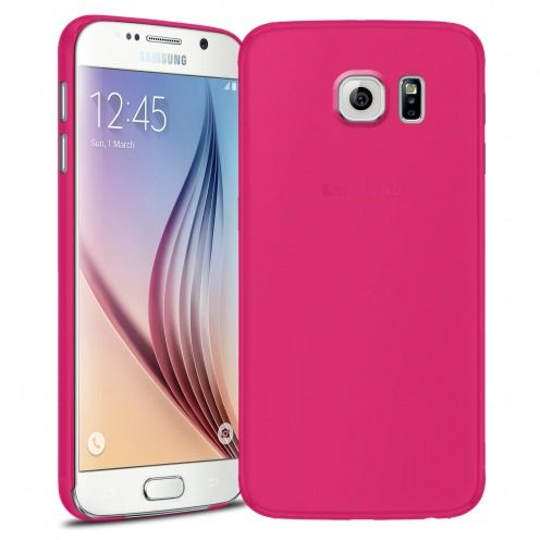 Coque Ultra Fine 0.3mm Frost Samsung Galaxy S6 Fuchsia