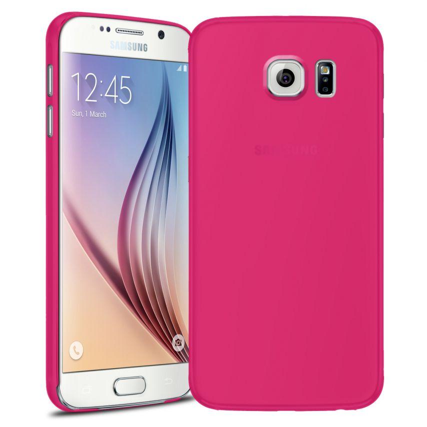 Vue Principale de Coque Ultra Fine 0.3mm Frost Samsung Galaxy S6 Fuchsia