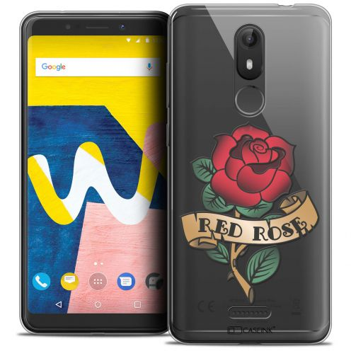 "Coque Crystal Gel Wiko View LITE (5.45"") Extra Fine Tatoo Lover - Red Rose"