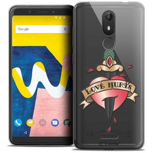 """Coque Crystal Gel Wiko View LITE (5.45"""") Extra Fine Tatoo Lover - Love Hurts"""