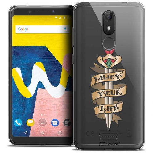 """Coque Crystal Gel Wiko View LITE (5.45"""") Extra Fine Tatoo Lover - Enjoy Life"""