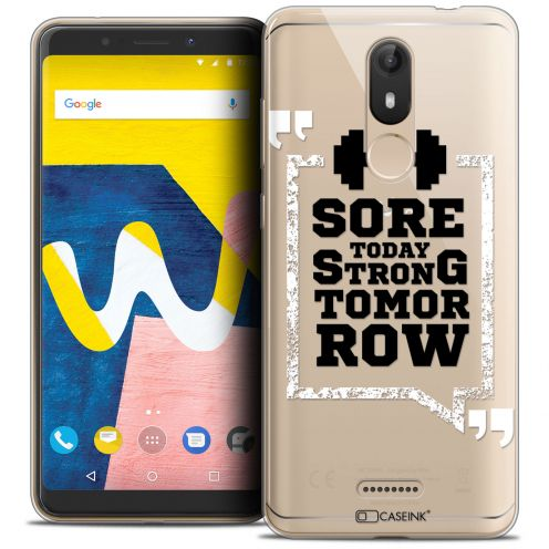 "Coque Crystal Gel Wiko View LITE (5.45"") Extra Fine Quote - Strong Tomorrow"