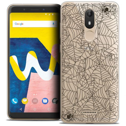 "Coque Crystal Gel Wiko View LITE (5.45"") Extra Fine Halloween - Spooky Spider"