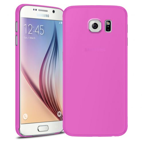 Vue Principale de Coque Ultra Fine 0.3mm Frost Samsung Galaxy S6 rose