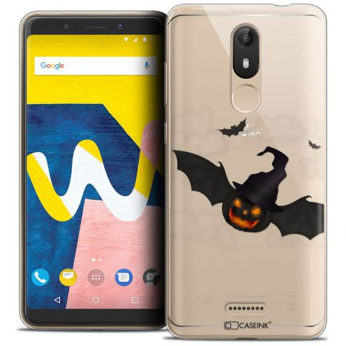 "Coque Crystal Gel Wiko View LITE (5.45"") Extra Fine Halloween - Chauve Citrouille"