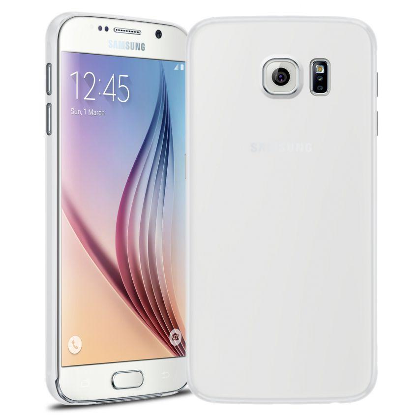 Vue Principale de Coque Ultra Fine 0.3mm Frost Samsung Galaxy S6 Transparente