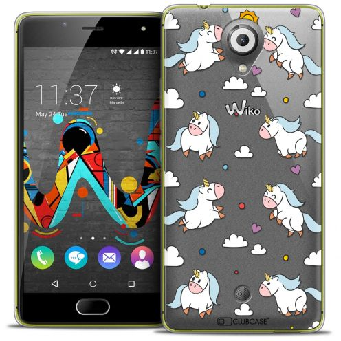 "Coque Crystal Gel Wiko U Feel (5"") Extra Fine Fantasia - Licorne In the Sky"