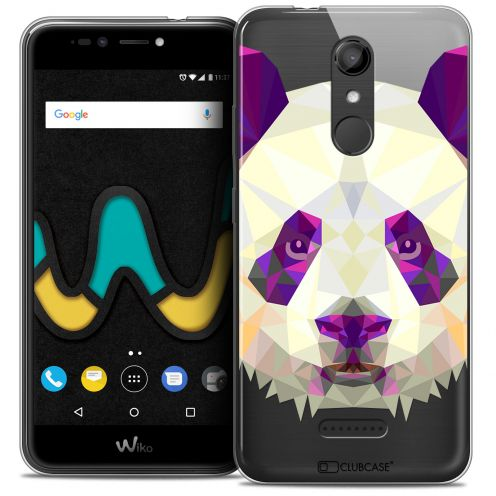 "Coque Crystal Gel Wiko U Pulse (5.5"") Extra Fine Polygon Animals - Panda"