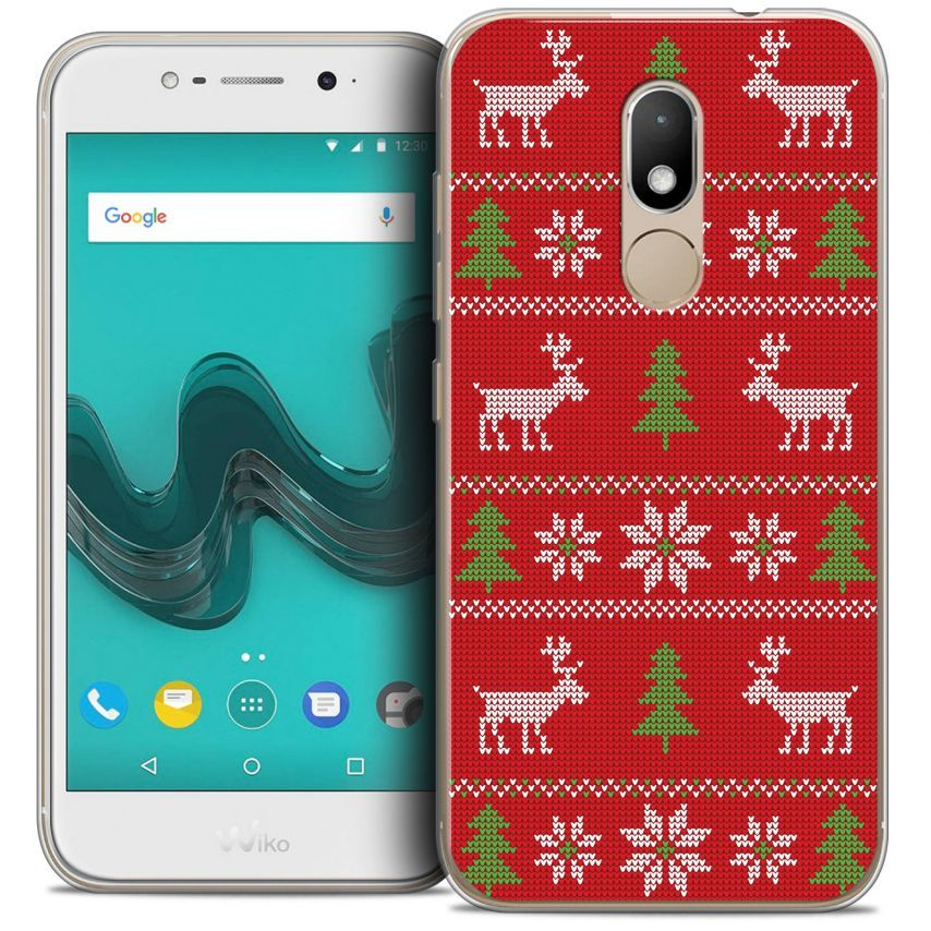 """Coque Crystal Gel Wiko Wim LITE (5.0"""") Extra Fine Noël 2017 - Couture Rouge"""