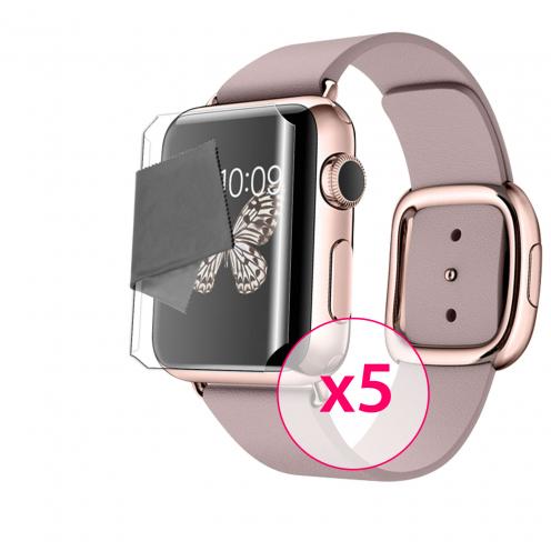 Films de protection Full screen Apple Watch (38 mm) Clubcase ® Clear HD Lot de 5
