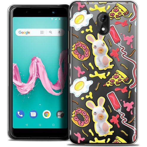 "Coque Gel Wiko Lenny 5 (5.7"") Extra Fine Lapins Crétins™ - Egg Pattern"