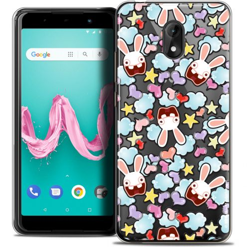 "Coque Gel Wiko Lenny 5 (5.7"") Extra Fine Lapins Crétins™ - Love Pattern"