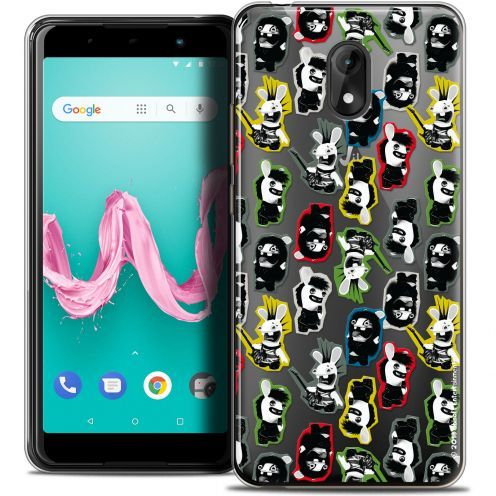 "Coque Gel Wiko Lenny 5 (5.7"") Extra Fine Lapins Crétins™ - Punk Pattern"