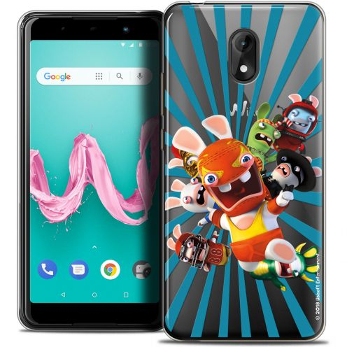 "Coque Gel Wiko Lenny 5 (5.7"") Extra Fine Lapins Crétins™ - Super Heros"