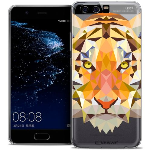 Coque Crystal Gel Huawei P10 Extra Fine Polygon Animals - Tigre