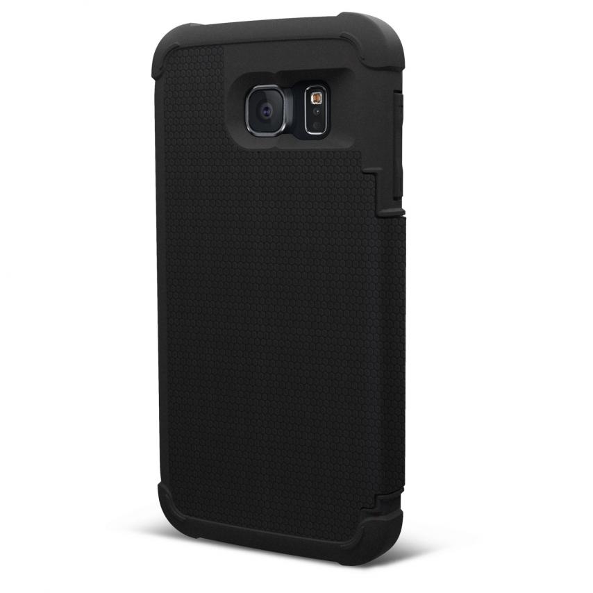 Vue Principale de Etui Folio Antichoc Galaxy S6 Urban Armor Gear® UAG Scout Folio Noir