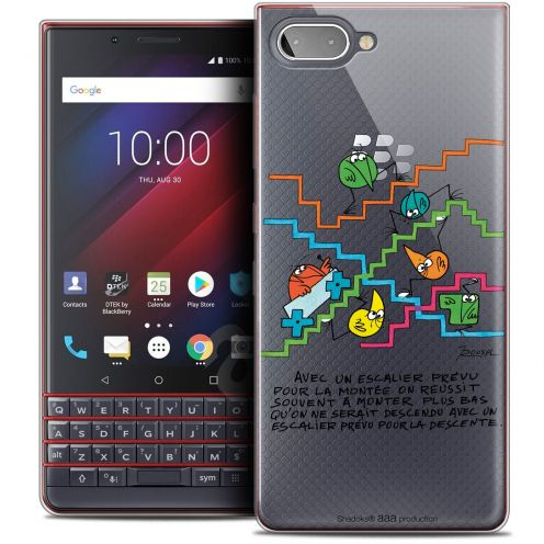 "Coque Gel BlackBerry Key2 LE (4.5"") Extra Fine Les Shadoks® - L'escalier"