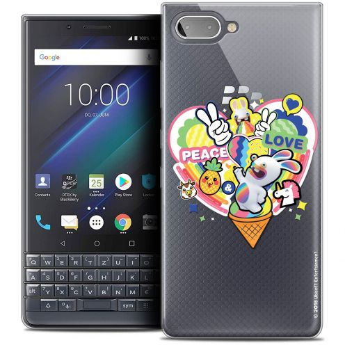 "Coque Gel BlackBerry Key2 LE (4.5"") Extra Fine Lapins Crétins™ - Peace And Love"