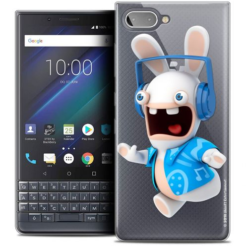 "Coque Gel BlackBerry Key2 LE (4.5"") Extra Fine Lapins Crétins™ - Techno Lapin"