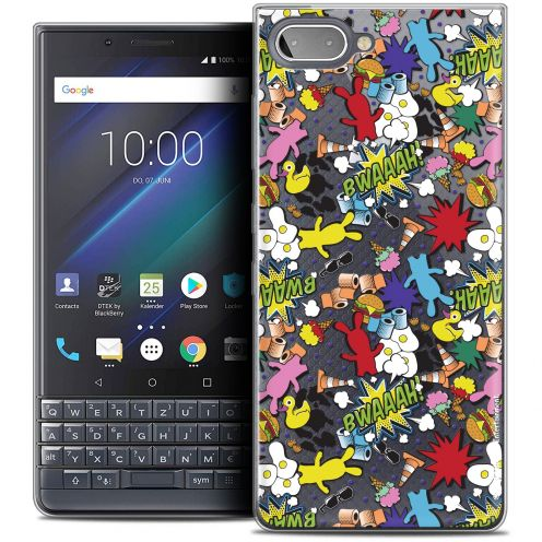 "Coque Gel BlackBerry Key2 LE (4.5"") Extra Fine Lapins Crétins™ - Bwaaah Pattern"