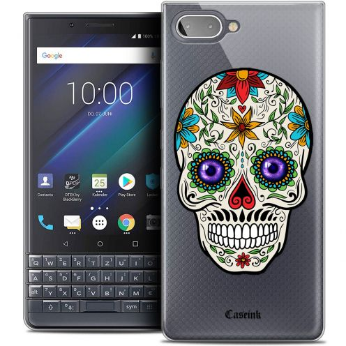 "Coque Crystal Gel BlackBerry Key2 LE (4.5"") Extra Fine Skull - Maria's Flower"