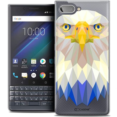 "Coque Crystal Gel BlackBerry Key2 LE (4.5"") Extra Fine Polygon Animals - Aigle"